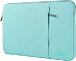 "KECC 15-15.6"" Sleeve for MacBook Pro 15"" A1990/A1707/A1398/A1286 Laptop Protective Case Canvas Bag with Pocket for Chromebook, Acer Notebook (Mint Green)"