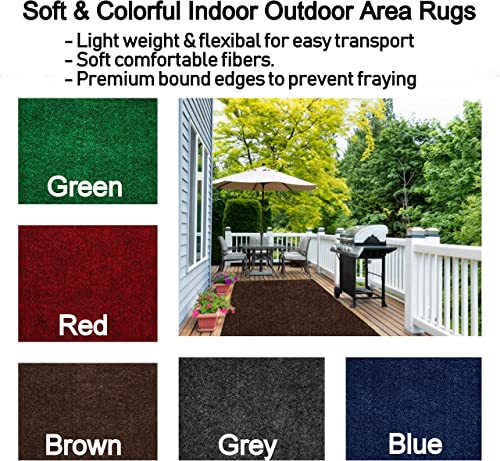 Soft Colorful Lightweight Indoor-Outdoor Area Rugs with Premium Bound Edges to Choose from 12 x 20 , Brown