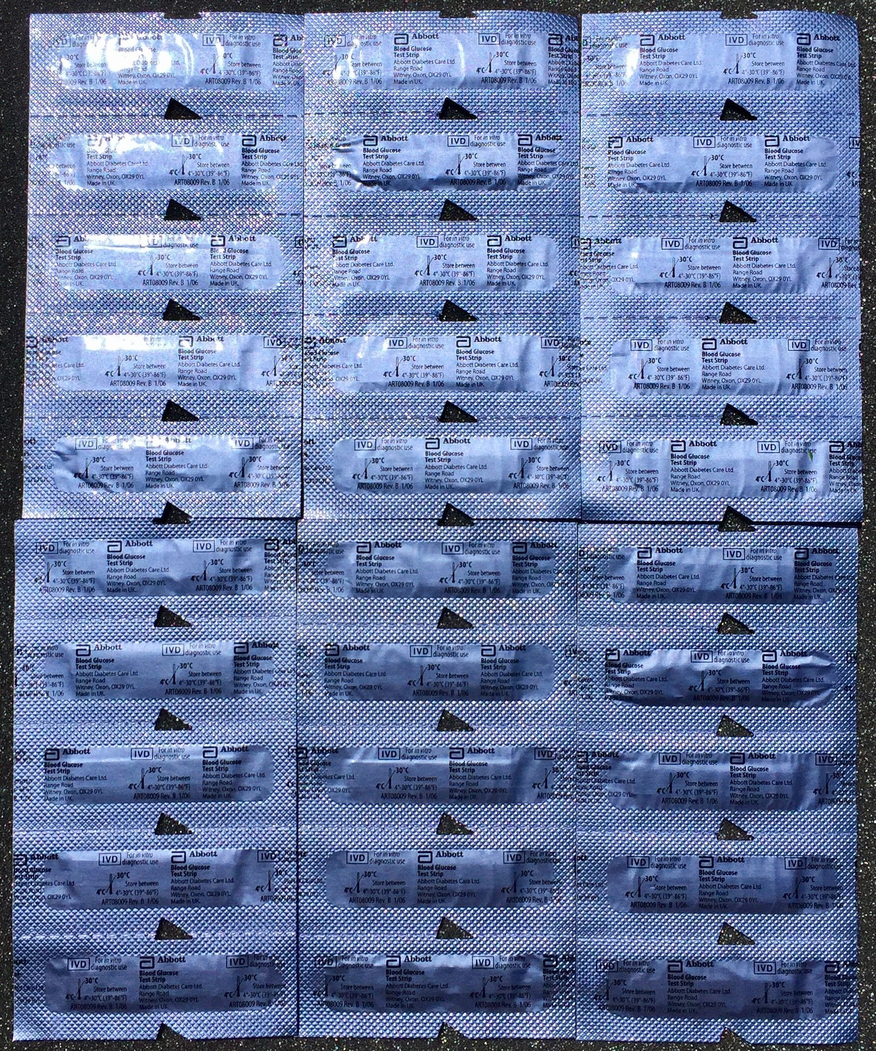 30 Precision Xtra Blood Glucose Test Strips, Unboxed, Sealed, Not Ketone Test Strips