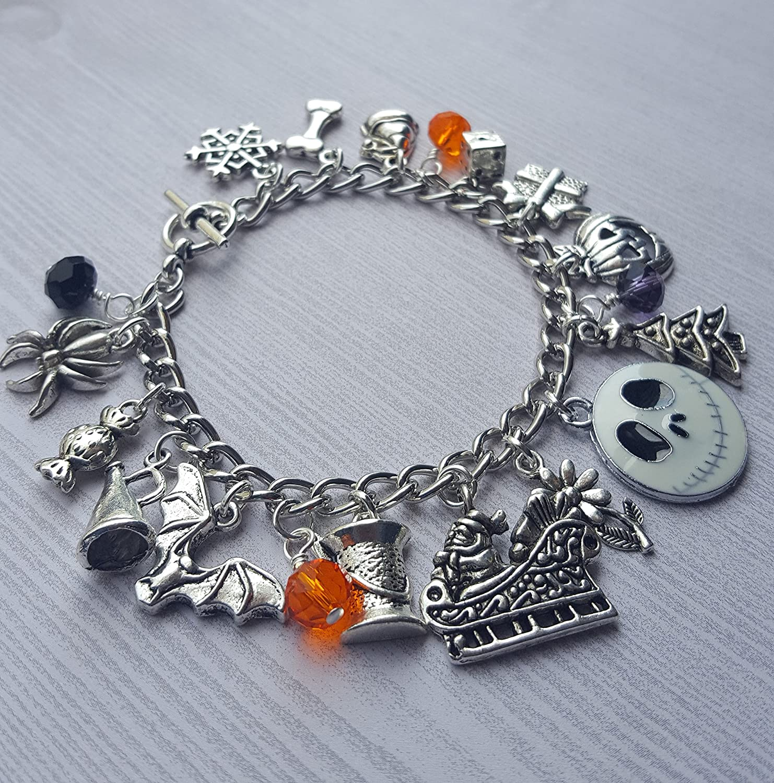 Amazon.com: Nightmare Before Christmas Charm Bracelet: Handmade