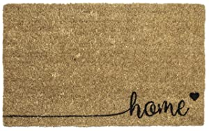 "Entryways Home , Hand-Stenciled, All-Natural Coconut Fiber Coir Doormat 18"" X 30"" x .75"""