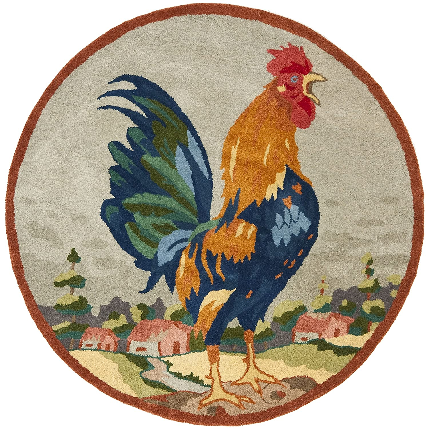 Round Rooster Kitchen Rugs Rooster Rugs For The Kitchen