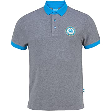 OLYMPIQUE DE MARSEILLE Polo retro OM - Collection officielle Taille adulte homme S BRfw53Osai