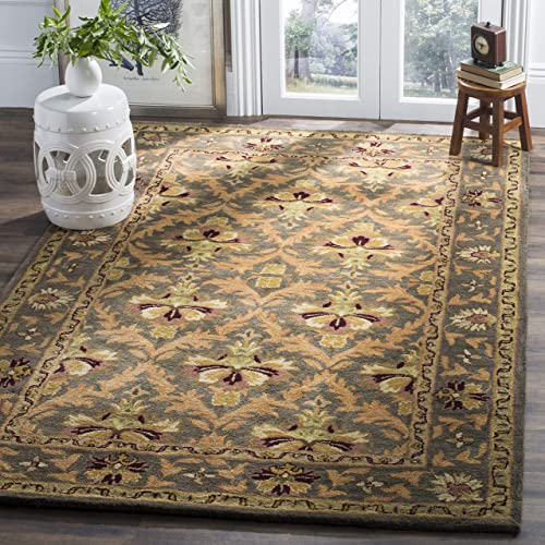 Safavieh Antiquities Collection AT54B Handmade Traditional Oriental Sage and Gold Wool Area Rug 9'6″ x 13'6″
