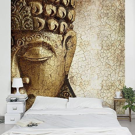 Amazon.com: Non-woven Wallpaper - Vintage Buddha - Mural Square ...