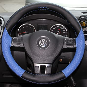 Stitch On Steering Wheel Skin Wrap Cover Grey w//Needle /& Thread *Best Selling*