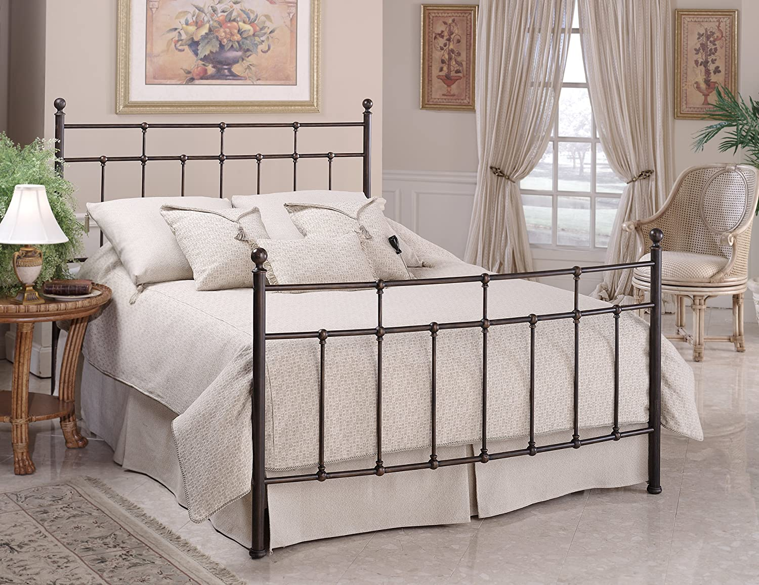 Amazon.com: Hillsdale Furniture 380BTWR Providence Bed Set With Rails,  Twin, Antique Bronze: Kitchen U0026 Dining