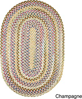 product image for Rhody Rug Charisma Indoor/Outdoor Oval Braided Rug by (7' x 9') - 7' x 9' Oval Champagne