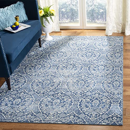 Safavieh Brentwood Collection BNT860M Floral Damask Ogee Trellis Area Rug