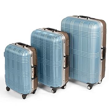 4b2be861b MasterGear Travel Line Maleta 77 cm, 80 litros, Azul Ice/Marrón: Amazon.es:  Equipaje