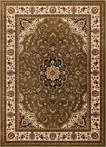 Well Woven Barclay Medallion Kashan Green Traditional Area Rug 9'3'' X 12'6''
