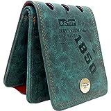 AlexVyan Special Design Dark Green Multi Color Stylish Bi Fold Wallet Men's Gents Boy's Wallet Purse