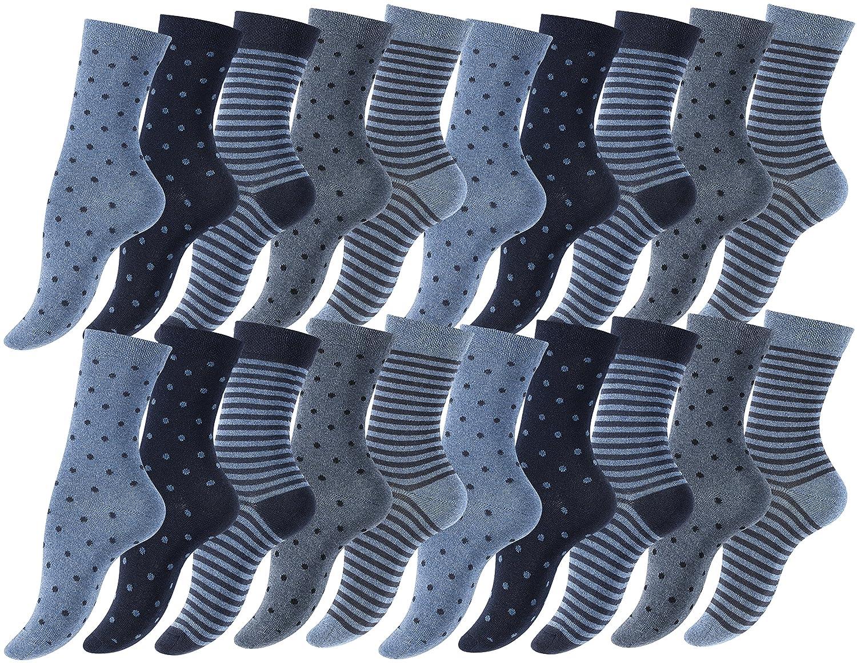 10 oder 20 Paar Süsse Damensocken - Mädchensocken Baumwolle