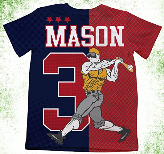 Amazon Personalized Baseball T Shirt Boys Jersey Pick Your Colors And Team Sport Birthday Shirts Custom