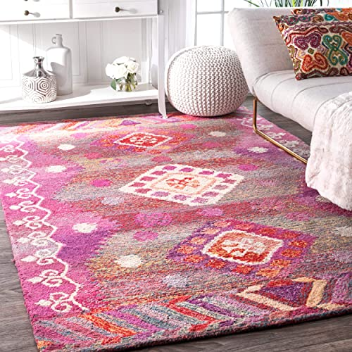 nuLOOM Valene Tribal Diamond Area Rug
