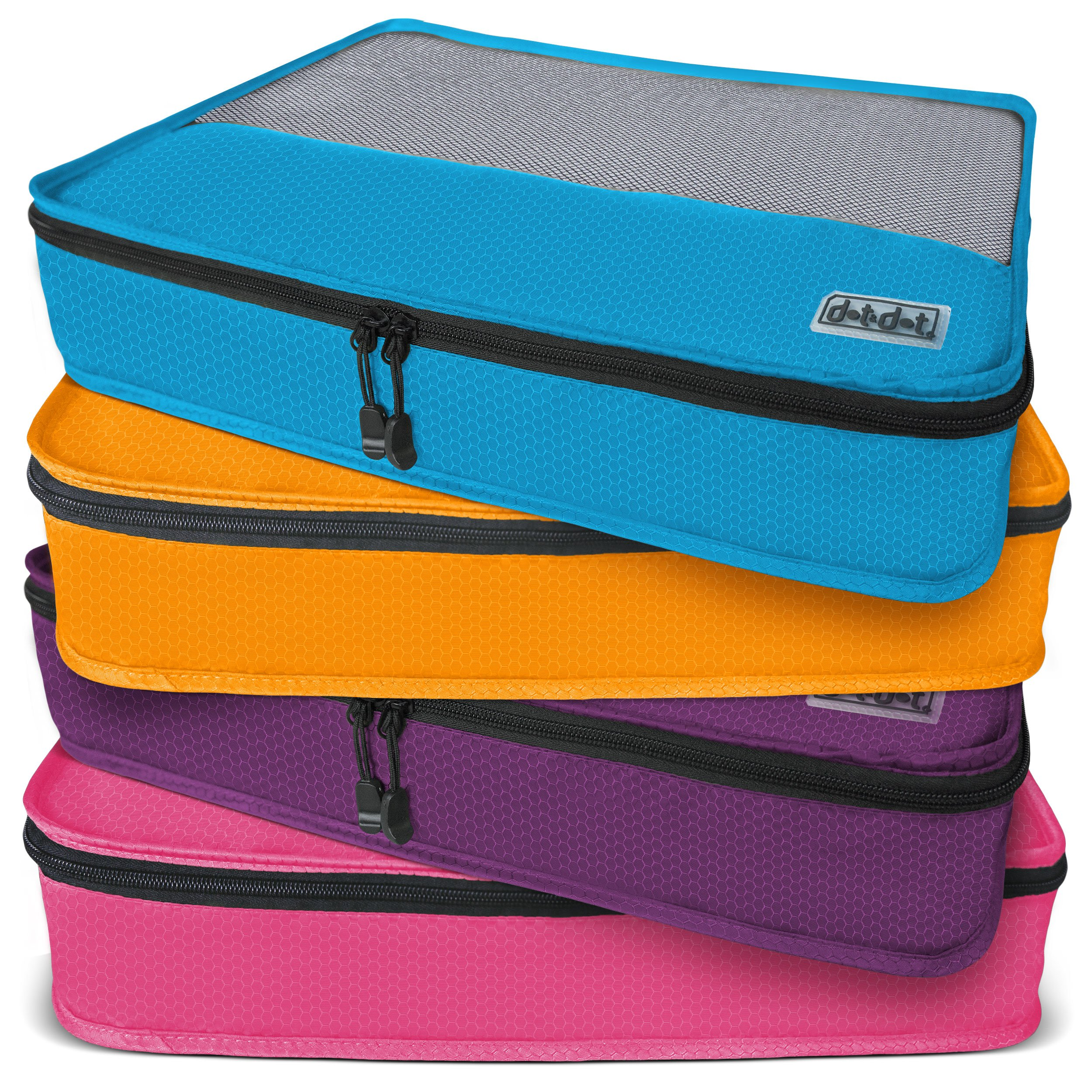Dot&Dot Large Packing Cubes for Travel - 4 Piece Luggage Accessories Organizers by Dot&Dot