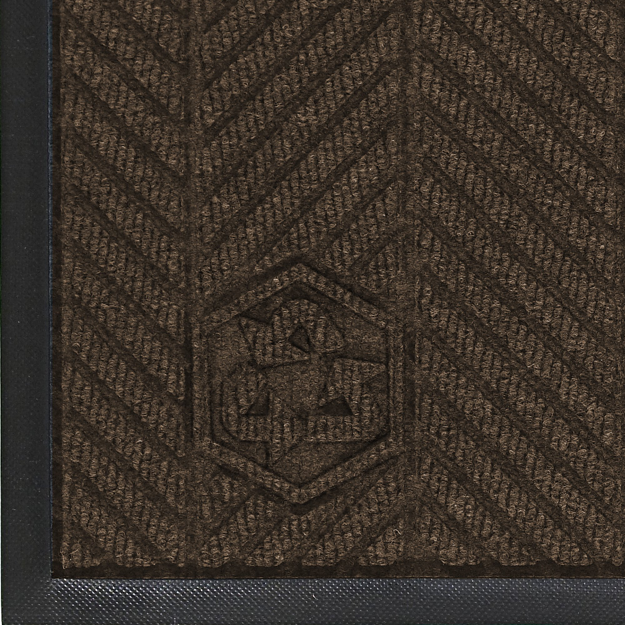 M+A Matting 2240 Waterhog Eco Elite PET Polyester Fiber Indoor/Outdoor Floor Mat, SBR Rubber Backing, 8.4' Length x 4' Width, 3/8'' Thick, Chestnut Brown
