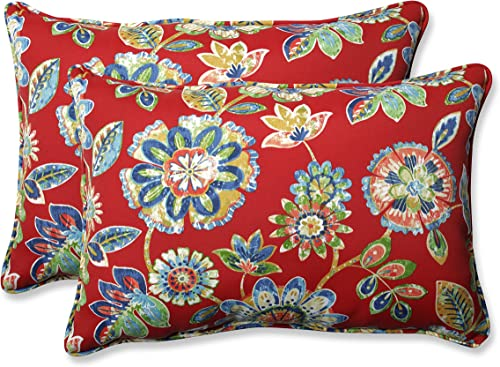Pillow Perfect Outdoor/Indoor Daelyn Cherry Oversized Lumbar Pillow