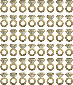 Beistle 57325 Diamond Ring Wine Glass Markers 48 Piece, 2.25