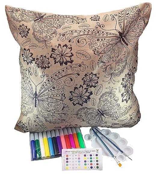 JabKab - Bokesi - Juego de fundas de almohada para colorear ...