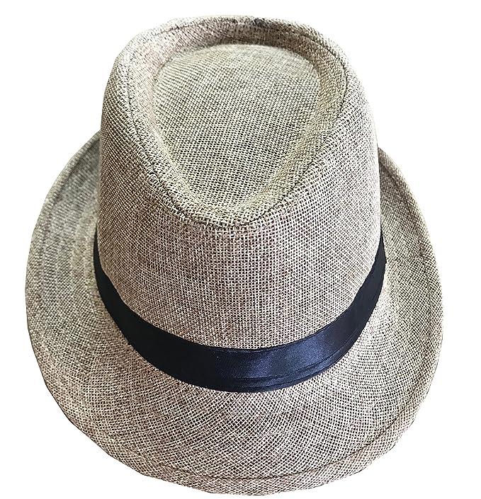 CLUB CUBANA Cappelli Fedora per Uomo Donne Cappello Unisex Capello Floscio  Stile Panama Estate Spiaggia Sole Jazz Beige  Amazon.it  Abbigliamento 3e862a5eed19