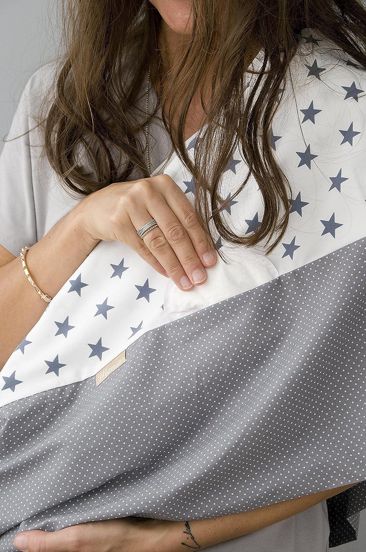 """L/'/écharpe-tube d/'allaitement /""""Big Star/"""" avec petites poches pour coussinets dallaitement L-XL"""