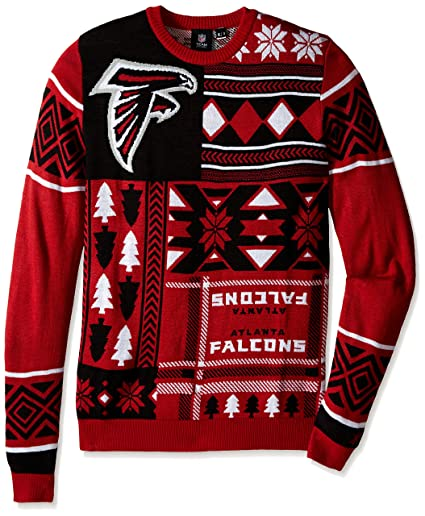 435b8fa1d5 Amazon.com   NFL Patches Ugly Sweater- Pick Team!   Sports   Outdoors