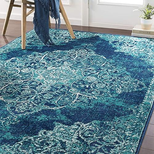 Artistic Weavers Zephyrus Area Rug 6 7 x 9 6 , Teal Blue