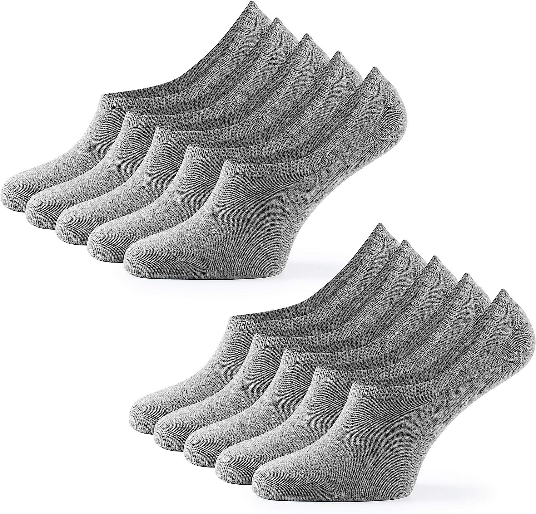 OEKO-TEX 100-35 36 37 38 39 40 41 42 43 44 45 46 Mat /& Vic/'s Calzini Sneaker Invisible corti unisex ottima qualit/à e comodit/à 10 paia