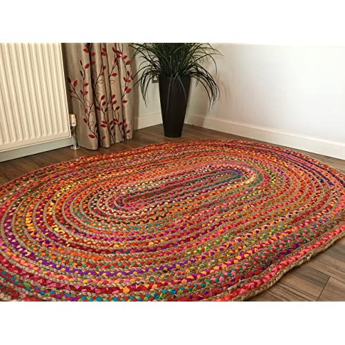 Used Oval Braided Rugs: Braided Rugs: Amazon.co.uk