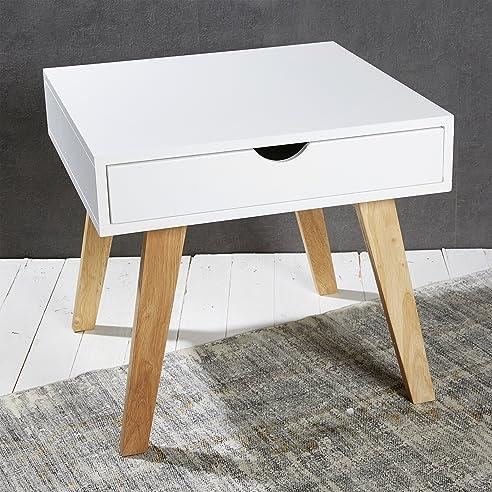 Nachttisch wei modern elegant moderne mit holzbetten for Couchtisch holzbeine