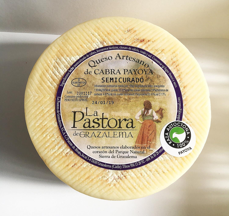Queso Artesano Semicurado de Cabra Payoya. La Maroma Gourmet. Productos Andaluces de La Sierra de Grazalema, Cádiz, España. (1): Amazon.es: Alimentación y ...