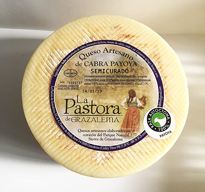 Queso Artesano Semicurado de Cabra Payoya. La Maroma Gourmet. Productos Andaluces de La Sierra