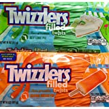 Twizzlers Filled Twists Key Lime Pie and Orange Cream Pop Bundle 2 Pack (11 ounce)