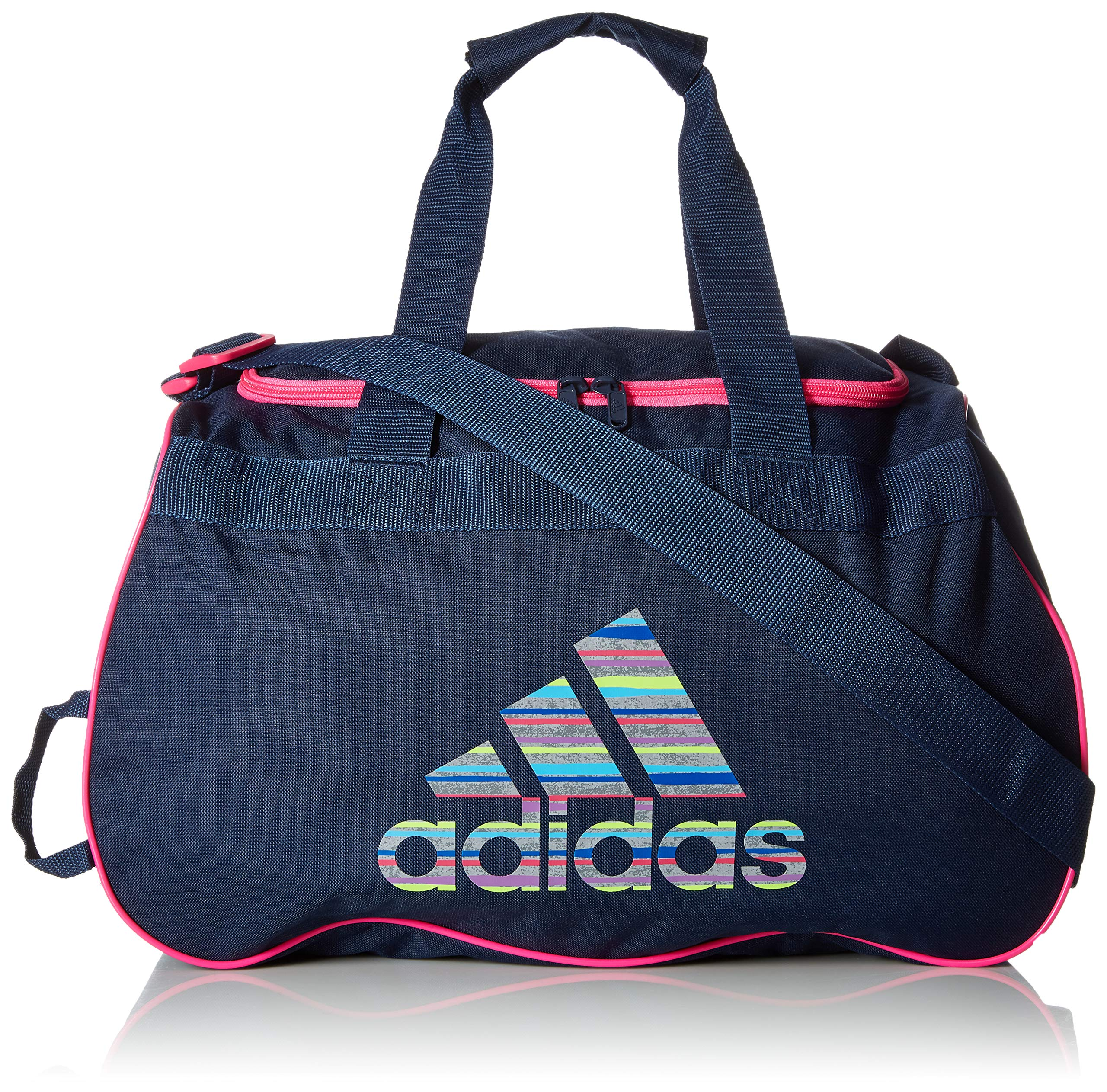 adidas Unisex Diablo Small Duffel Bag, Collegiate Navy/Shock Pink Andreas/Shock Pink, ONE SIZE by adidas