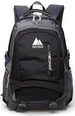 12a48ab7519b School Backpack BookBag For College Travel Hiking Fit Laptop Up to 15.6  Inch Water Resistant Book