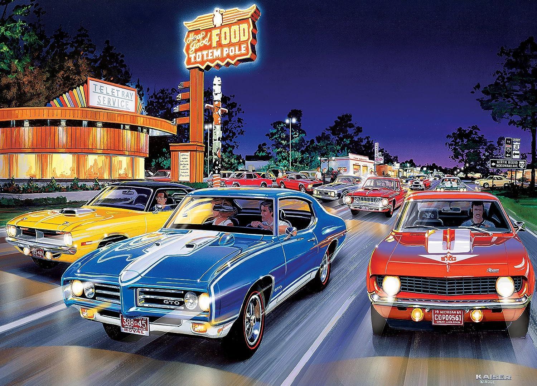 Amazon.com: MasterPieces Cruisin\' Woodward Avenue - Muscle Cars 1000 ...