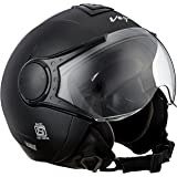 Vega Verve Open Face Helmet (Women's, Dull Black, M)