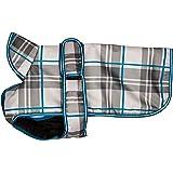Petrageous Kodiak Gray Plaid Dog Coat