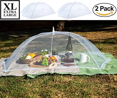 MODOO [2 Pack] Luxury Large Food Cover Tent / 49x27x17 Inches/XL Perfect & Amazon.com: MODOO [2 Pack] Luxury Large Food Cover Tent / 49x27x17 ...