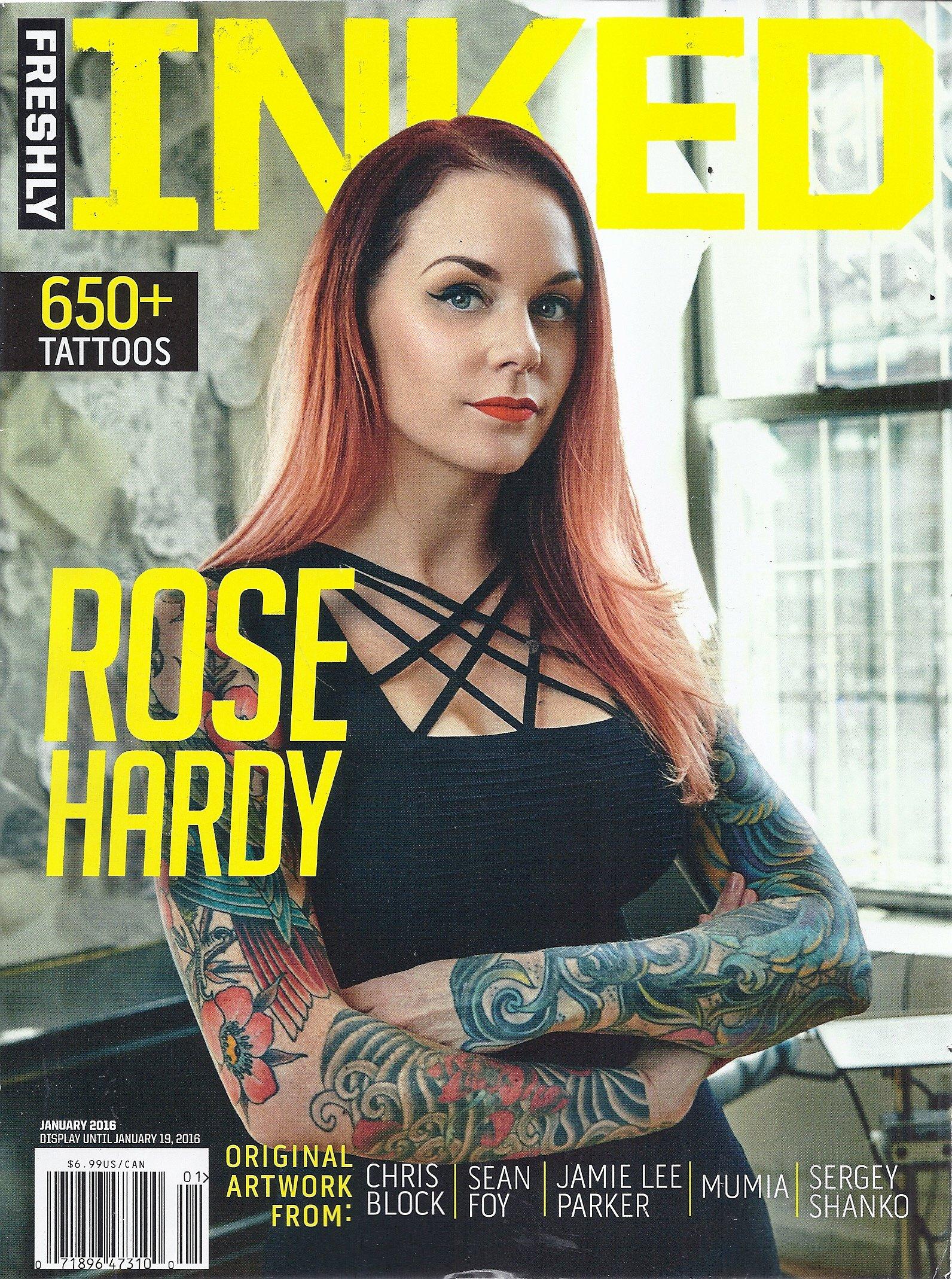 Freshly Inked Magazine (January 2016 - Cover: Rose Hardy): V: Amazon ...