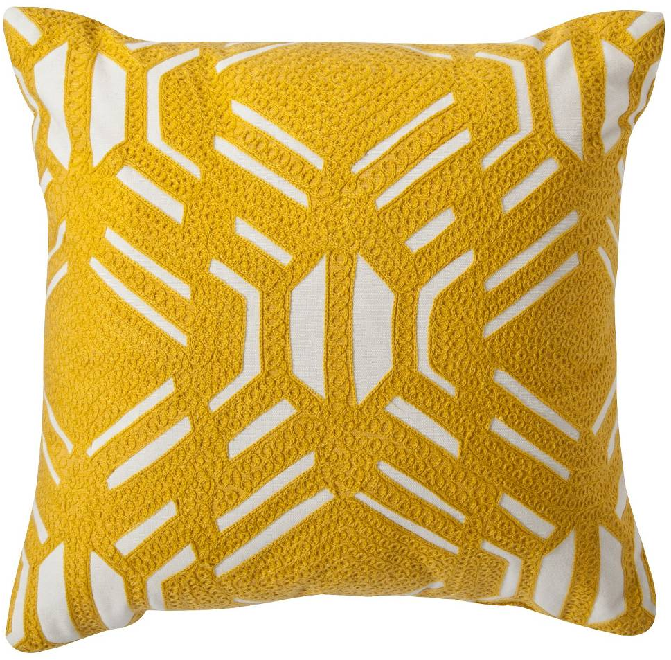 "Patterned Decorative Pillow (16""x16"") Yellow - Room Essentials™ : Target"