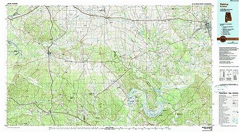 Amazon.com : YellowMaps Selma AL topo map, 1:100000 Scale ...