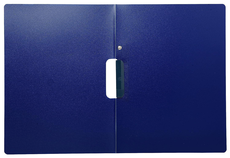 1 St/ück blau vertikale Pr/ägung, 2-teilig mit Clip, PP, DIN A4 Exacompta 445407KHSB Bewerbungsmappe