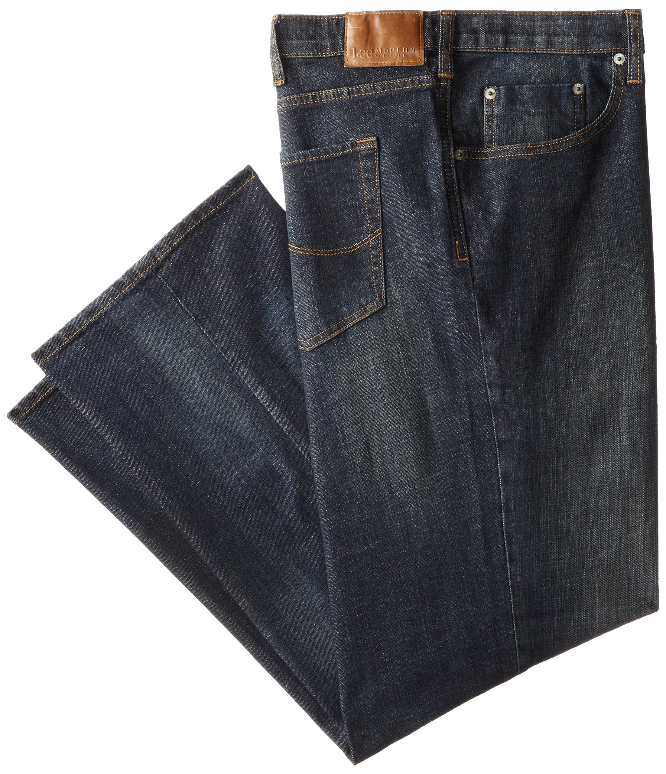 Lee Men's Big-Tall Modern Series Custom Fit Relaxed Straight Leg Jean, Storm Rider, 46W x 32L
