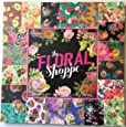 The Floral Shoppe 12x12 Scrapbooking Paper Pad, 80 Sheets, Colorful, Bright, Flowers