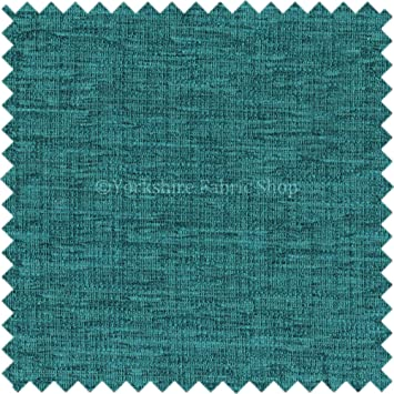 Soft Shimmering Chenille Upholstery Material Fabrics Teal Blue ...