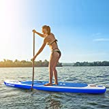 MaxKare Inflatable Stand Up Paddle Board SUP Board Surfing 6 Inches Thick with Premium Paddle Board Accessories Backpack Double Action Pump Portable ISUP for Youth & Adult&Kid All Level