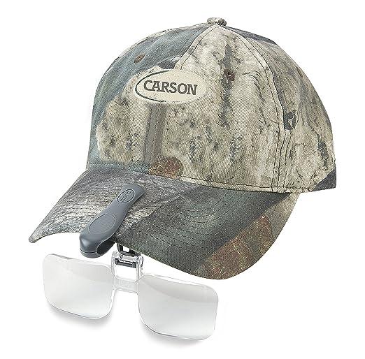 Carson VisorMag - Lentes de aumento con pinza para gorras de visera (2x, +3 dioptrías): Amazon.es: Electrónica