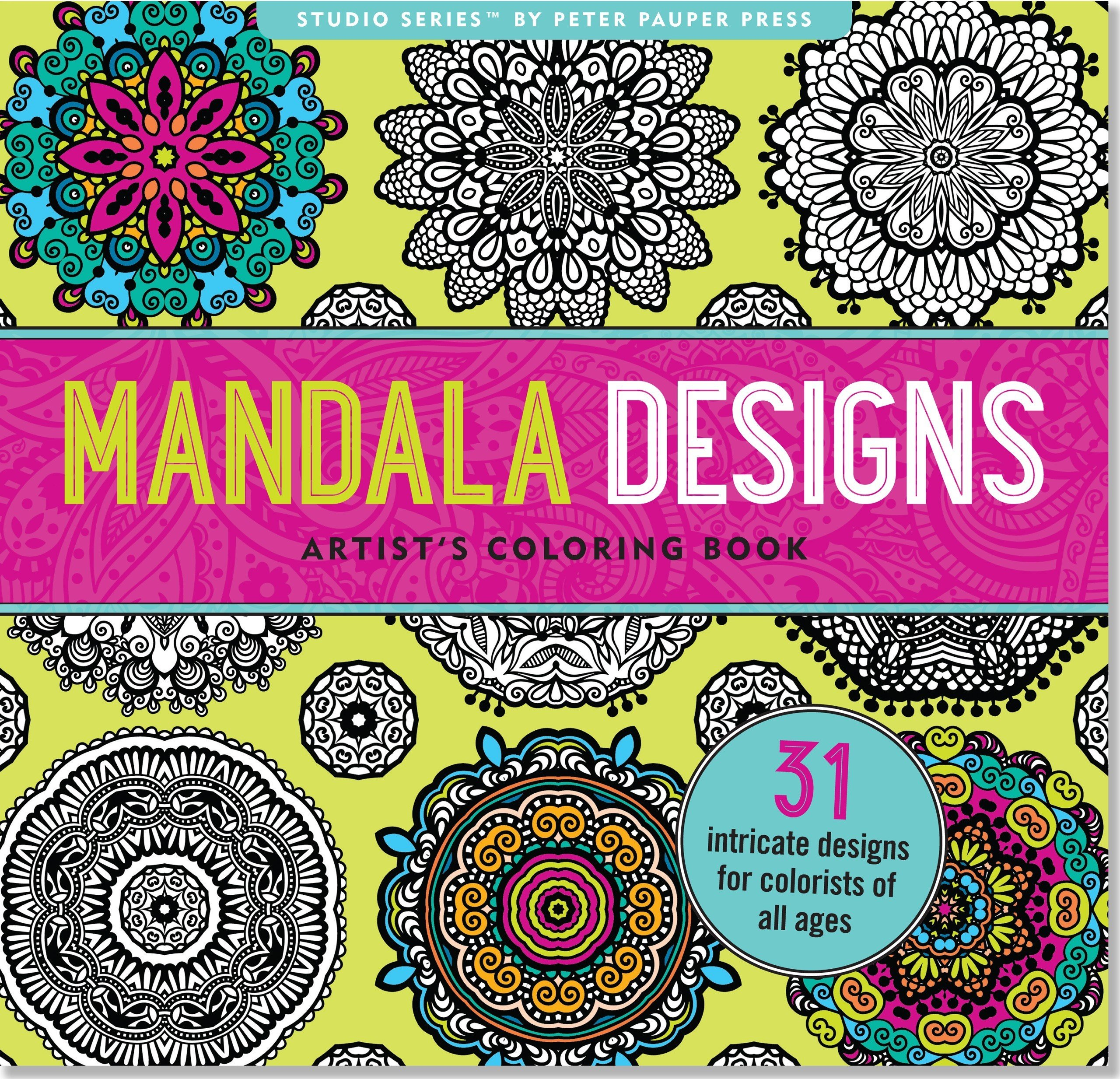 Mandala Designs Adult Coloring Book 31 Stress Relieving Amazonca Peter Pauper Press Books